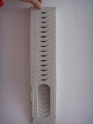 20 possition plastic expandable clock card rack
